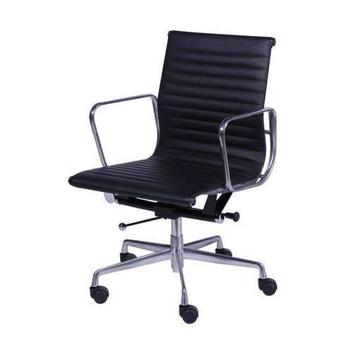 Cadeira de Escritório Baixa com Braços Preta 3301 OR Design