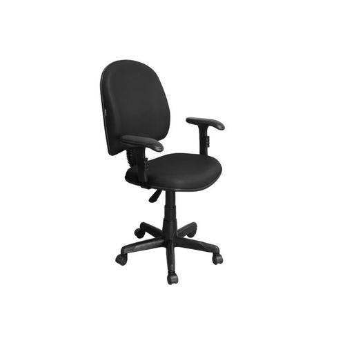 Cadeira de Escritório Excellence PEGBD Executiva Giratória Braços Reguláveis Preta - Pethiflex