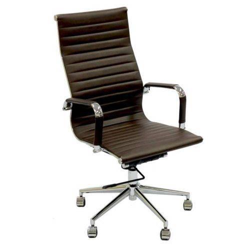 Cadeira de Escritório Or Design Eames Esteirinha Alta Giratória Café