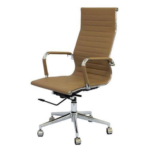Cadeira de Escritório Or Design Eames Esteirinha Alta Giratória Camarelo