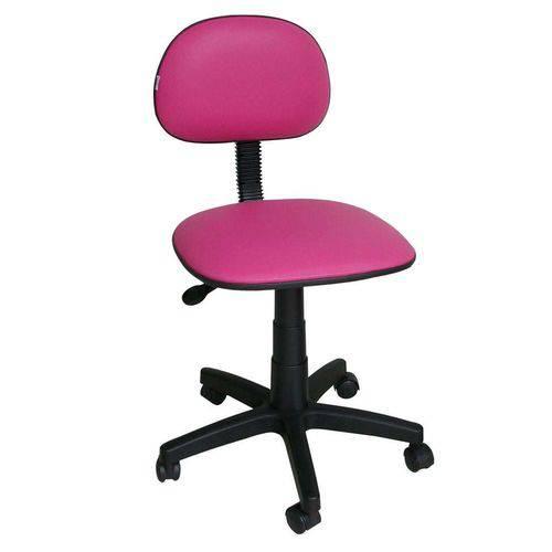 Cadeira de Escritório Secretária Giratória Corano Rosa