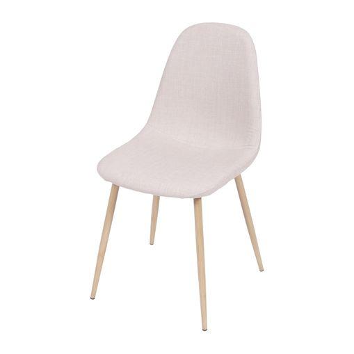 Cadeira de Jantar Bege em Linho 1112 Or Design