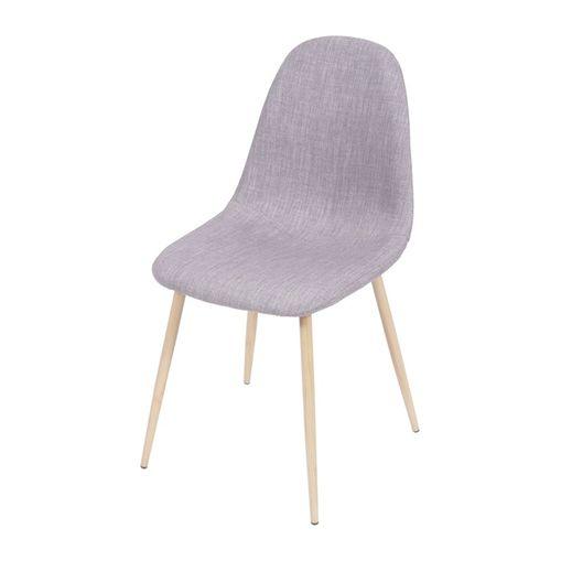 Cadeira de Jantar Cinza em Linho 1112 Or Design