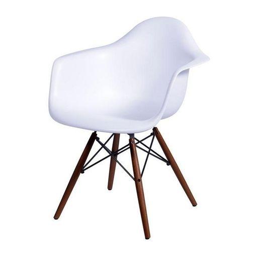 Cadeira de Jantar Eames com Braços Branca ÓR
