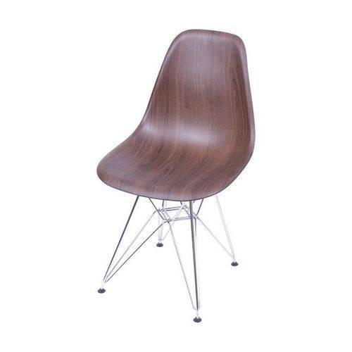 Cadeira de Jantar Eames Eiffel Madeira Escura 1102 OR Design