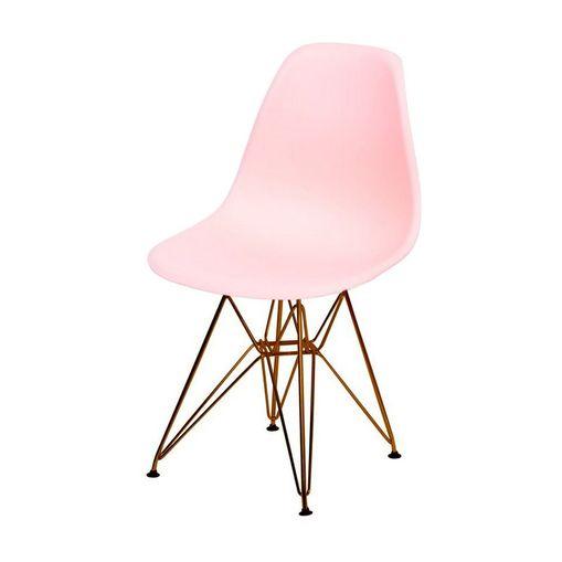 Cadeira de Jantar Eames Eiffel Salmão Base Cobre 1102CO Ór