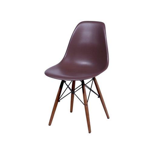 Cadeira de Jantar Eames Wood Café Base Escura 1102BE Ór