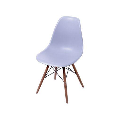 Cadeira de Jantar Eames Wood Cinza Base Escura 1102BE Ór