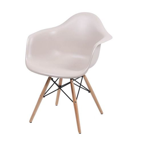 Cadeira de Jantar Eames Wood com Braços Fendi 1120 OR Design