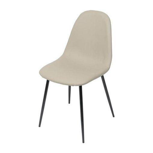 Cadeira de Jantar Fendi em Tecido PU com Base Preta ÓR