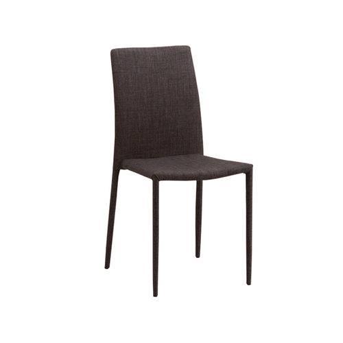 Cadeira de Jantar Glam Tecido - Marrom