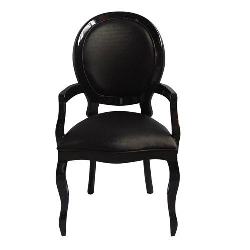 Cadeira de Jantar Medalhão Lisa com Braço - Wood Prime 275154 Liso