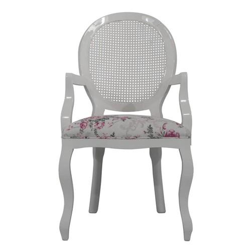 Cadeira de Jantar Medalhão Lisa com Braço - Wood Prime 1171443 Liso