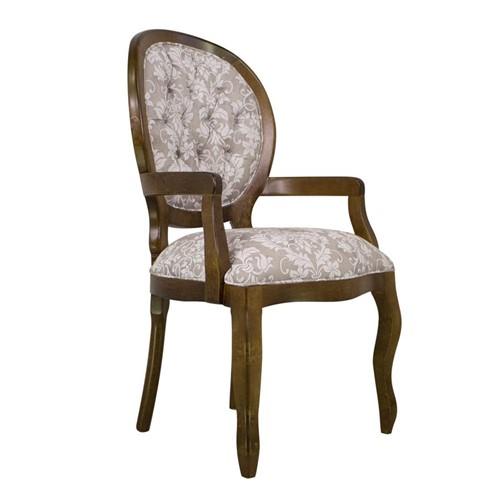 Cadeira de Jantar Medalhão Lisa com Braço - Wood Prime 1171442 Liso