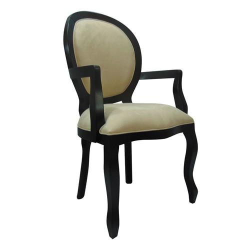 Cadeira de Jantar Medalhão Lisa com Braço - Wood Prime 1171441 Liso