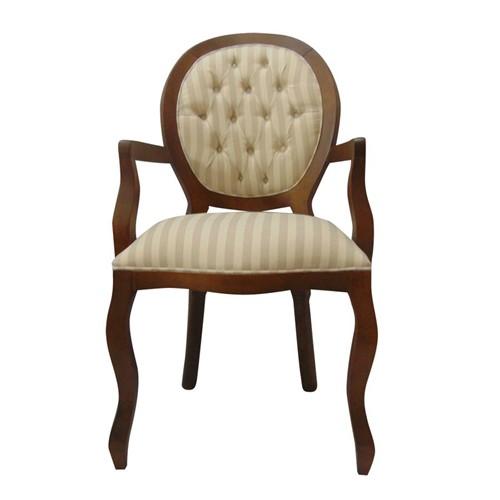 Cadeira de Jantar Medalhão Lisa com Braço - Wood Prime 1171438 Liso