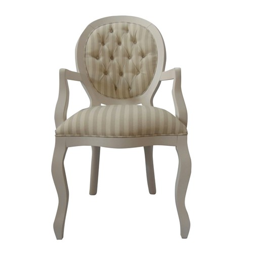 Cadeira de Jantar Medalhão Lisa com Braço - Wood Prime 1171439 Liso