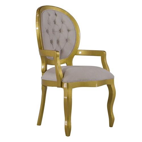 Cadeira de Jantar Medalhão Lisa com Braço - Wood Prime 14704 Liso