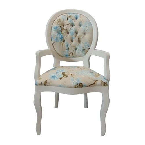 Cadeira de Jantar Medalhão Lisa com Braço - Wood Prime 15555 Liso
