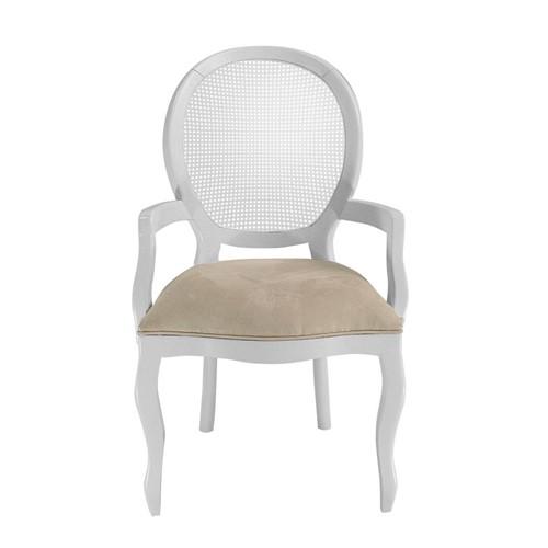 Cadeira de Jantar Medalhão Lisa com Braço - Wood Prime 15575 Liso