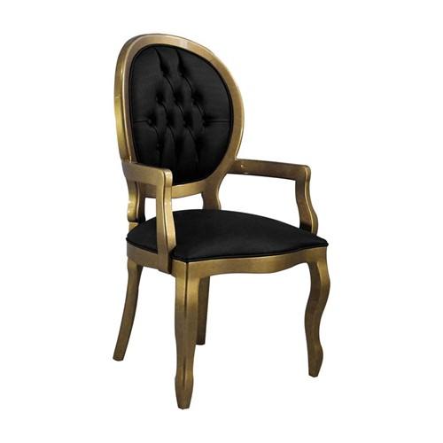 Cadeira de Jantar Medalhão Lisa com Braço - Wood Prime 15583 Liso