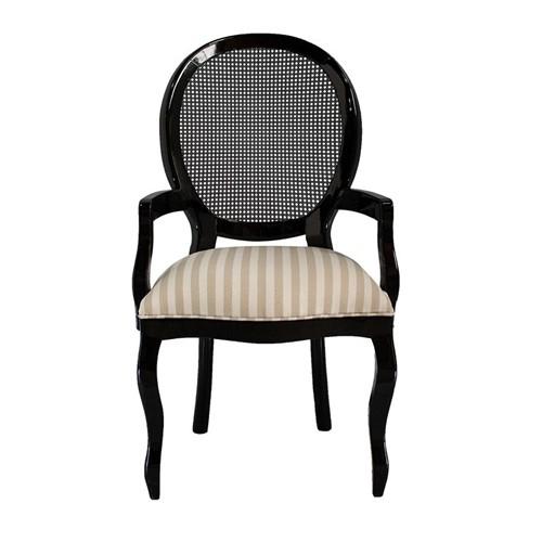 Cadeira de Jantar Medalhão Lisa com Braço - Wood Prime 15587 Liso