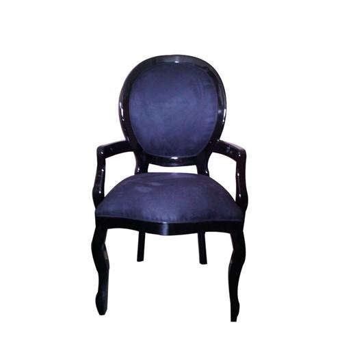 Cadeira de Jantar Medalhão Lisa com Braço - Wood Prime 252354 Liso