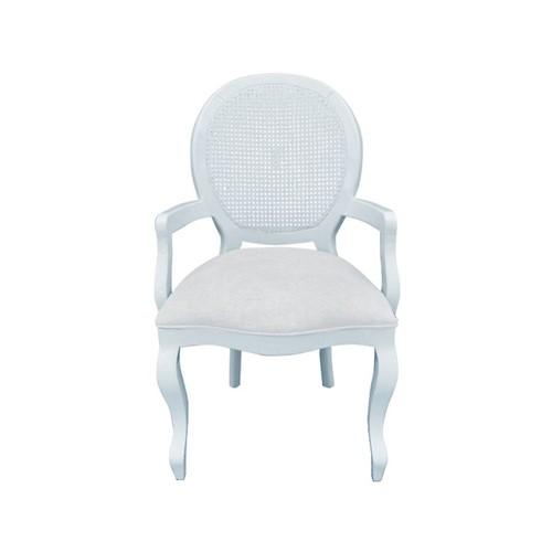 Cadeira de Jantar Medalhão Lisa com Braço - Wood Prime 253618 Liso