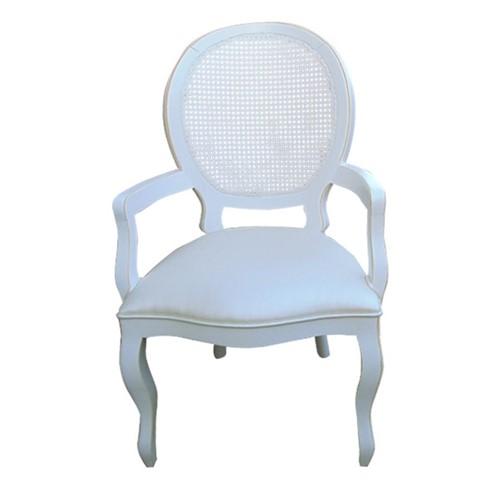 Cadeira de Jantar Medalhão Lisa com Braço - Wood Prime 275156 Liso