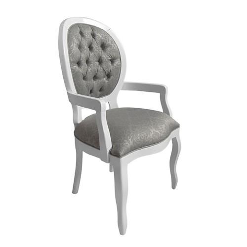 Cadeira de Jantar Medalhão Lisa com Braço - Wood Prime 868022 Liso