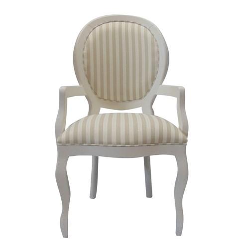 Cadeira de Jantar Medalhão Lisa com Braço - Wood Prime 868025 Liso
