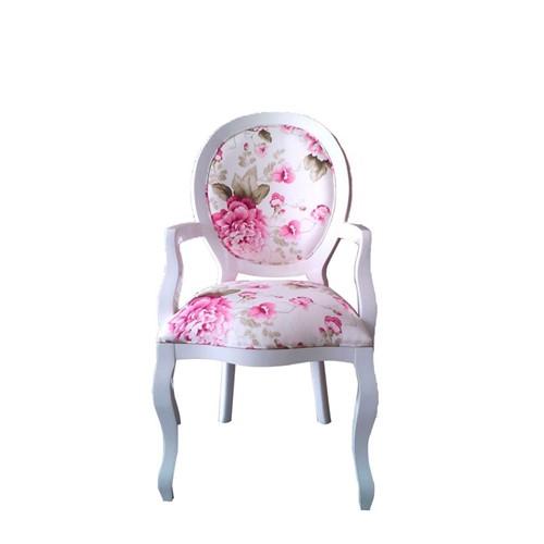 Cadeira de Jantar Medalhão Lisa com Braço - Wood Prime 963215 Liso