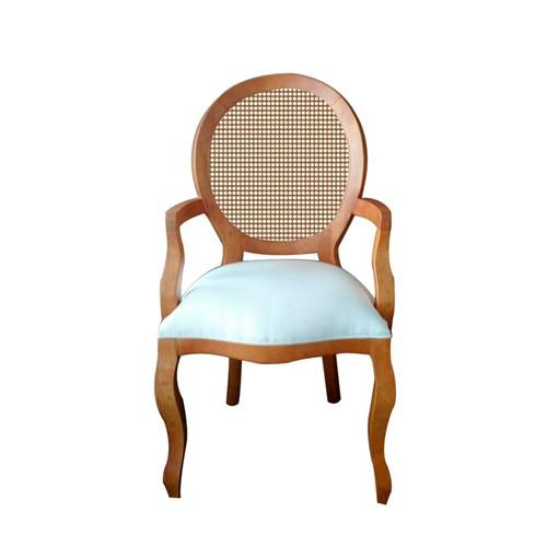 Cadeira de Jantar Medalhão Lisa com Braço - Wood Prime 997087 Liso