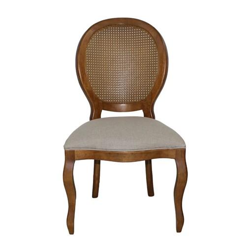 Cadeira de Jantar Medalhão Lisa Sem Braço Impermeável - Wood Prime 12420 Liso