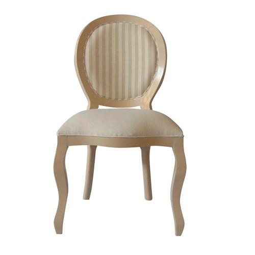 Cadeira de Jantar Medalhão Lisa Sem Braço - Wood Prime 230331 Liso
