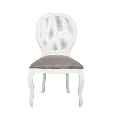 Cadeira de Jantar Medalhão Lisa Sem Braço - Wood Prime 230312 Liso