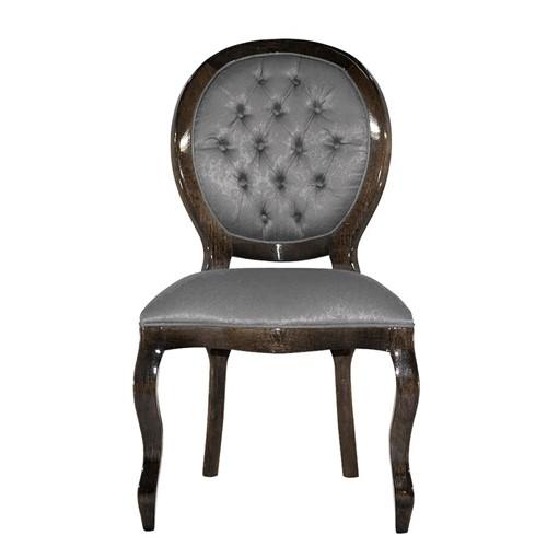 Cadeira de Jantar Medalhão Lisa Sem Braço - Wood Prime 230324 Liso
