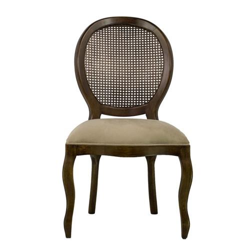 Cadeira de Jantar Medalhão Lisa Sem Braço - Wood Prime 230325 Liso