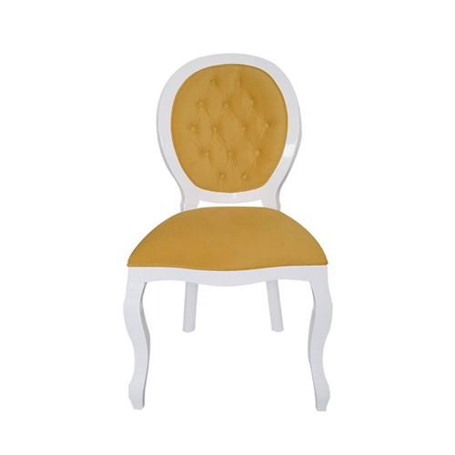 Cadeira de Jantar Medalhão Lisa Sem Braço - Wood Prime 1020666 Liso
