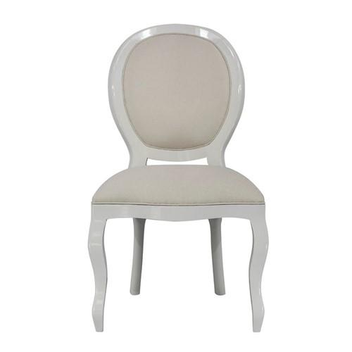Cadeira de Jantar Medalhão Lisa Sem Braço - Wood Prime 1016188 Liso