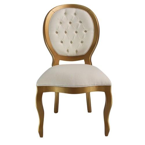 Cadeira de Jantar Medalhão Lisa Sem Braço - Wood Prime 10680 Liso