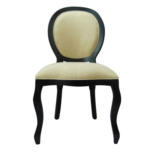 Cadeira de Jantar Medalhão Lisa Sem Braço - Wood Prime 1171445 Liso