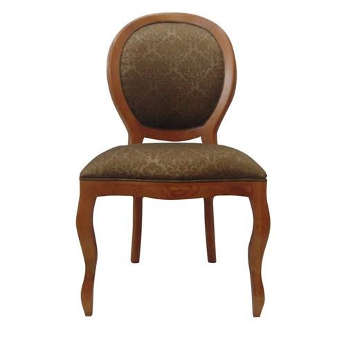 Cadeira de Jantar Medalhão Lisa Sem Braço - Wood Prime 1171446 Liso