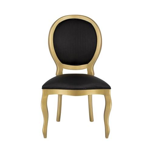 Cadeira de Jantar Medalhão Lisa Sem Braço - Wood Prime 15623 Liso