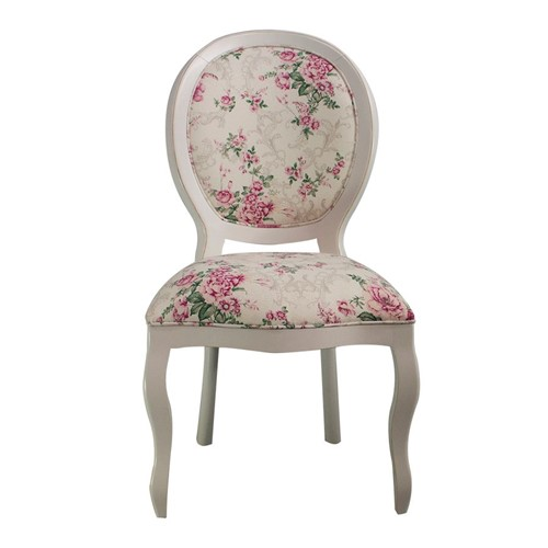 Cadeira de Jantar Medalhão Lisa Sem Braço - Wood Prime 15631 Liso