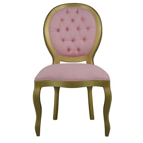 Cadeira de Jantar Medalhão Lisa Sem Braço - Wood Prime 15643 Liso