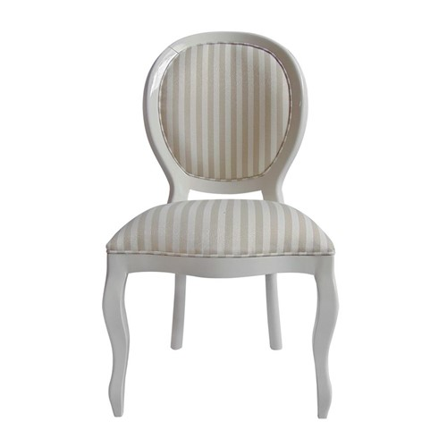Cadeira de Jantar Medalhão Lisa Sem Braço - Wood Prime 15651 Liso