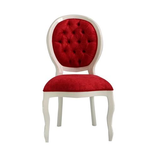 Cadeira de Jantar Medalhão Lisa Sem Braço - Wood Prime 15663 Liso