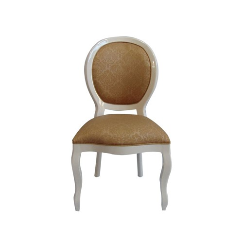 Cadeira de Jantar Medalhão Lisa Sem Braço - Wood Prime 15627 Liso