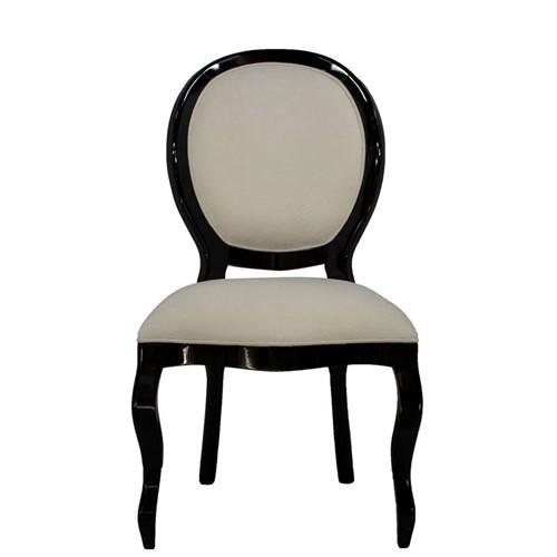 Cadeira de Jantar Medalhão Lisa Sem Braço - Wood Prime 15671 Liso